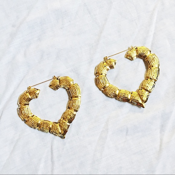 Jewelry | Heart Shaped Bamboo Earrings | Poshmark